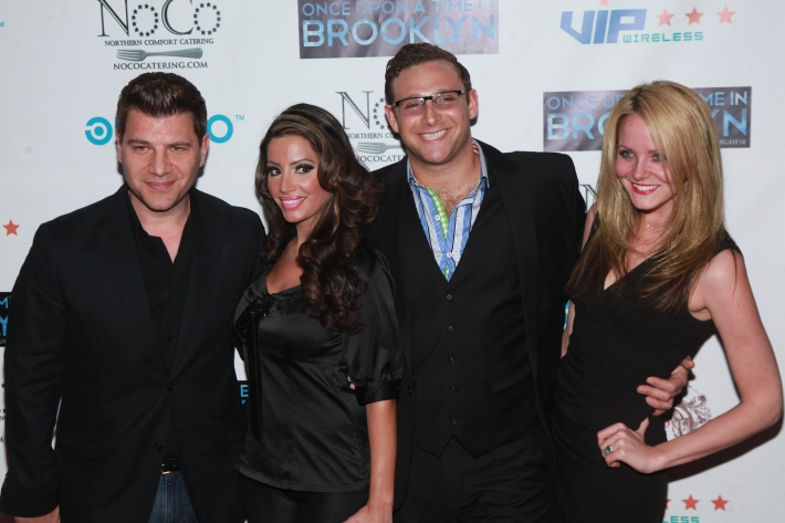 Tom Murro, Vh1's Elizabeth Ann, Chris Nirschel at Once Upon A Time In Brooklyn Film Screening (Photo by Yoni Levy)
