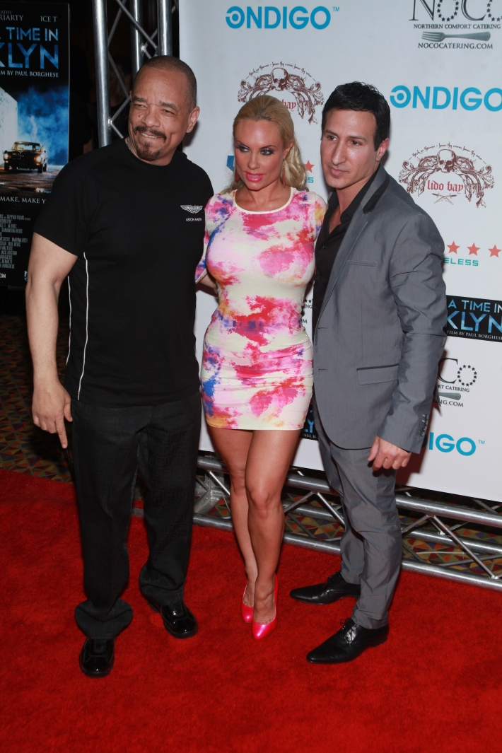 Ice-T, Coco Austin and actor William DeMeo at Once Upon A Time In Brooklyn Film Screening with Cast (Photo by Yoni Levy)