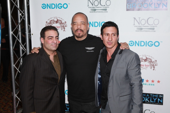 Director Paul Borghese, Ice-T and actor William DeMeo at Once Upon A Time In Brooklyn Film Screening with Cast (Photo by Yoni Levy)