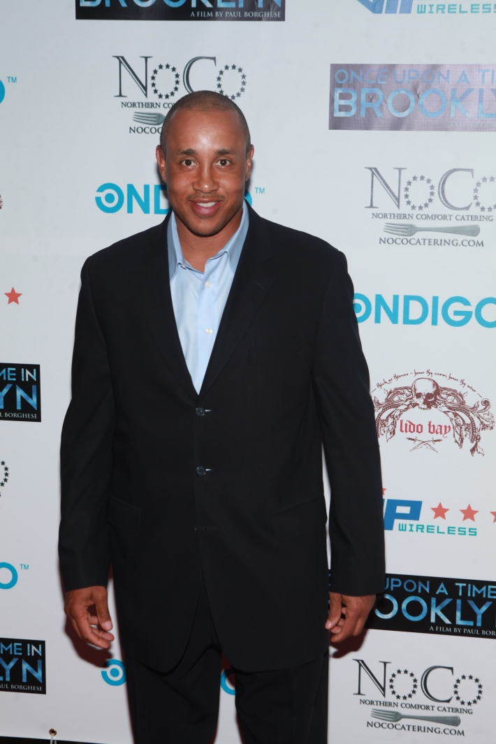 John Starks at Once Upon A Time In Brooklyn Film Screening with Cast (Photo by Yoni Levy)