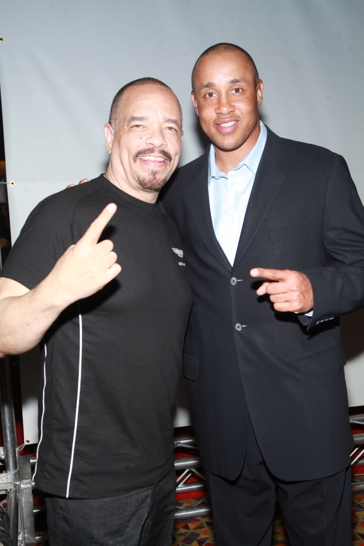 Ice-T and John Starks at Once Upon A Time In Brooklyn Film Screening  (Photo by Yoni Levy)