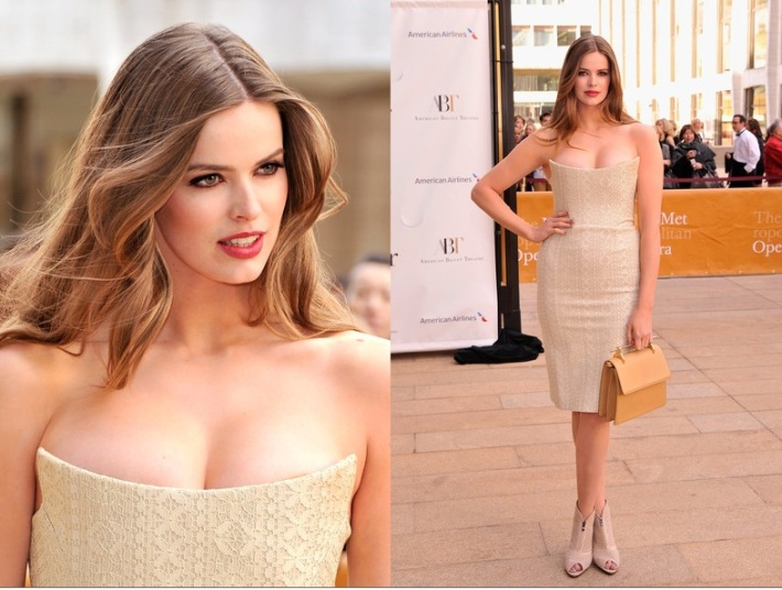 Model Robyn Lawley  attends the 2013 American Ballet Theatre Opening Night Spring Gala (Photo by StephenLovekin)