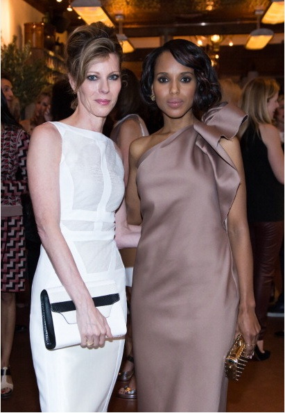 Robbie Myers and Kerry Washington at ELLE & Tod's Celebrate Kerry Washington Photo by AnnaWebber