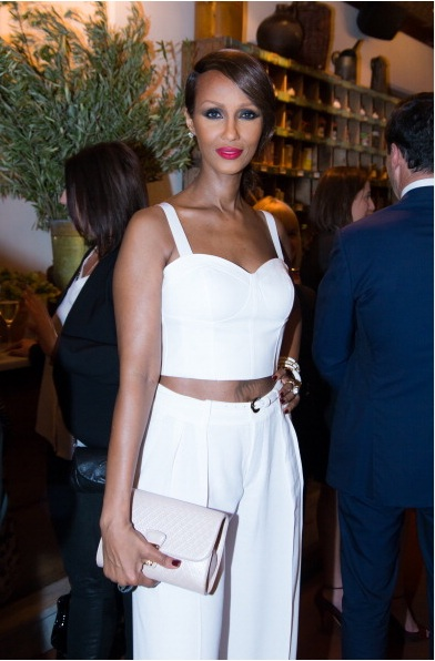 Iman at ELLE & Tod's Celebrate Kerry Washington Party Photo by AnnaWebber