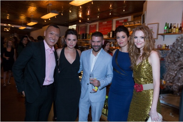 Joe Zee, Katie Lowe, Guillermo Diaz, Bellamy Young and Darby Stanchfield  at ELLE & Tod's Celebrate Kerry Washington Party Photo by AnnaWebber