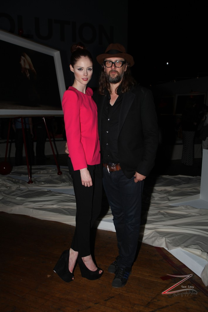 Steven Sebring and Coco Rocha at Steven Sebring's REVOLUTION Opening Reception (Photo by Yoni Levy)