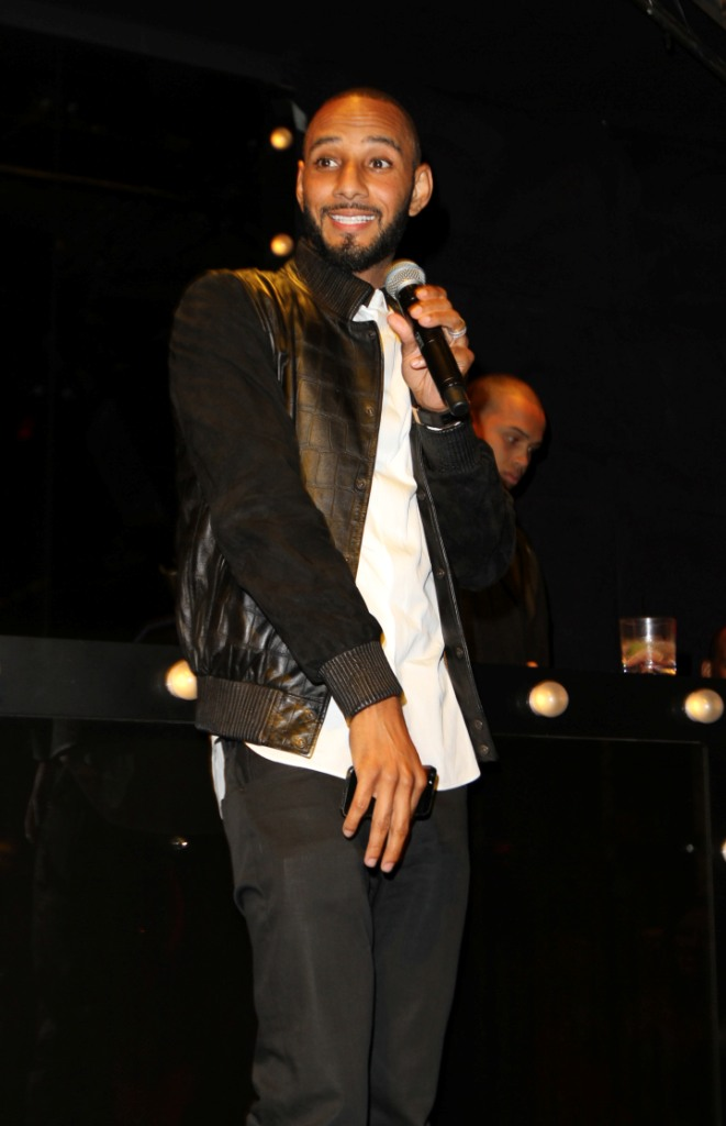Swizz Beatz addresses the crowd at the Bronx Charter School For The Arts 2013 Art Auction Photo by Jerritt Clark
