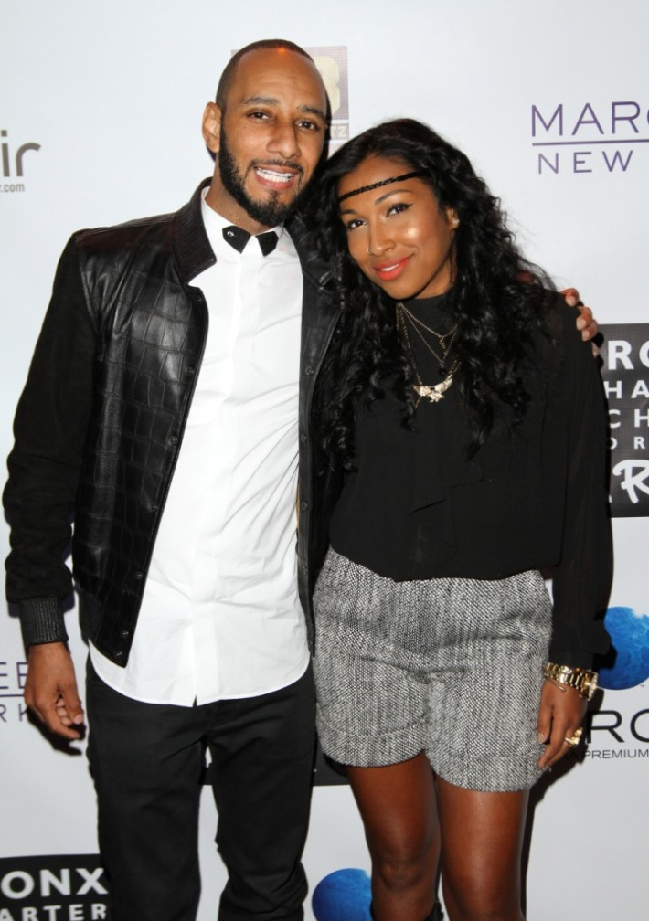 Swizz Beatz and Melanie Fiona attend Bronx Charter School For The Arts 2013 Art Auction Photo by Jerritt Clark