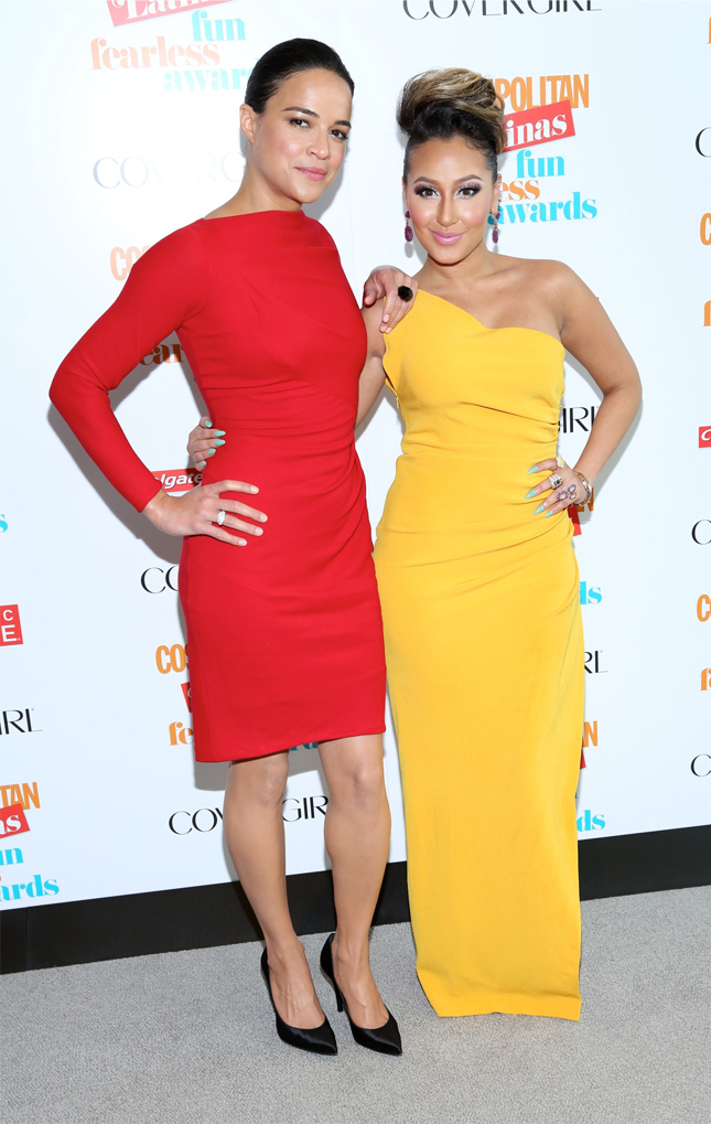Michelle Rodriguez and Adrienne Bailon at 2013 Fun Fearless Latina Awards (Photo by AndresOter)