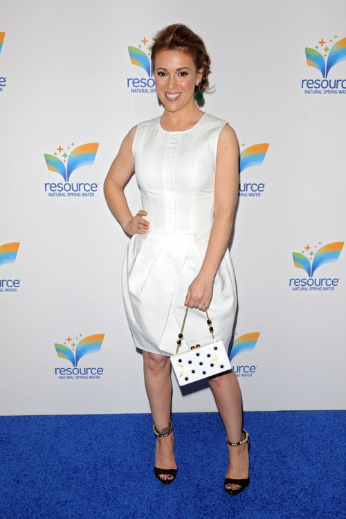 Alyssa Milano attends Natural Spring Water Resource Launch Event