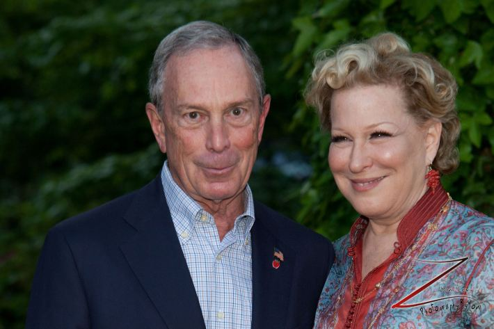 Mayor Michael Bloomberg and actress Bette Midler pose for a picture during the 12th Annual Bette Midler's New York Restoration Project Spring Picnic  (Photo by Yoni Levy)