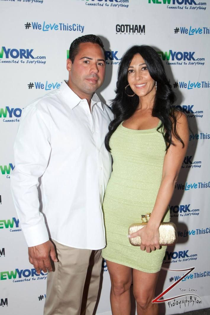 Carla Facciolo and Joseph Ferragamo attend the NewYork.com Launch Party at Arena (Photo by Yoni Levy)