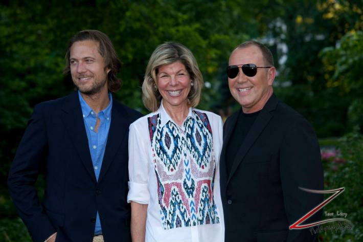 Lance LePere, Jamie De Roy, Michael Kors at the 12th Annual Bette Midler's New York Restoration Project Spring Picnic  (Photo by Yoni Levy)