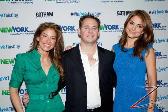 Dylan Lauren, Brett Reizen and Maria Menounos at the NewYork.com Launch Party at Arena (Photo by Yoni Levy)