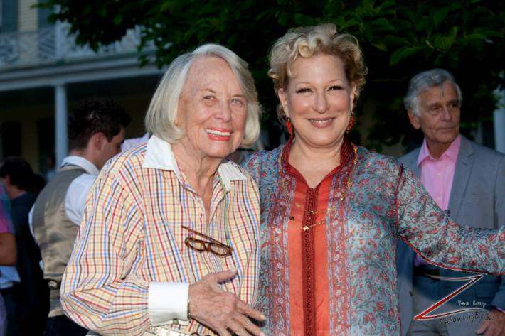 Liz Smith And Bette Midler pose for a picture during the 12th Annual Bette Midler's New York Restoration Project Spring Picnic  (Photo by Yoni Levy)