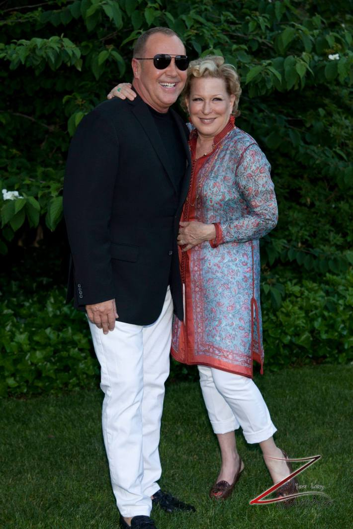Bette Midler and designer Michael Kors at the 12th Annual Bette Midler's New York Restoration Project Spring Picnic  (Photo by Yoni Levy)