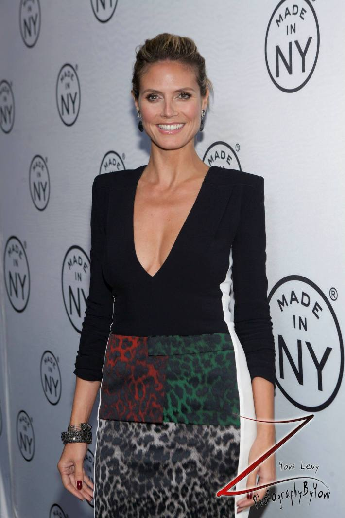 Heidi Klum attend the 8th Annual 'Made In NY Awards' at Gracie Mansion  (Photo by Yoni Levy)