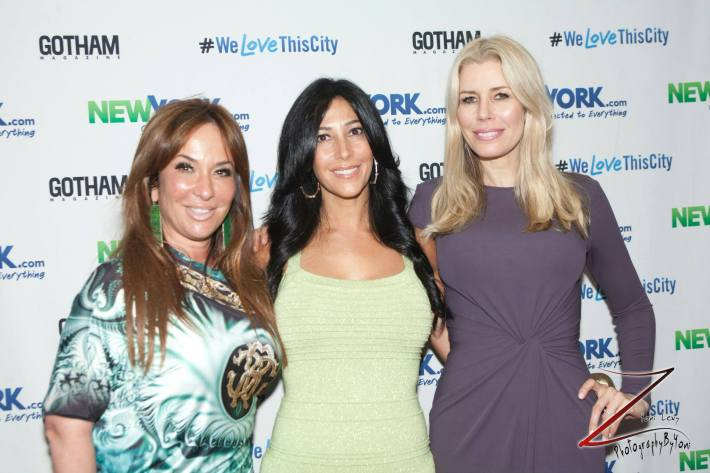Barbara Kavovit, Carla Facciolo, and Aviva Drescher attend the NewYork.com Launch Party at Arena (Photo by Yoni Levy)