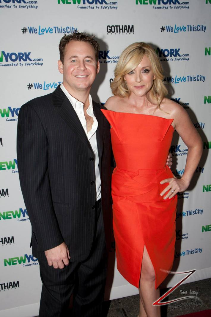 Brian Reizen and Jane Krakowski attend the NewYork.com Launch Party at Arena (Photo by Yoni Levy)