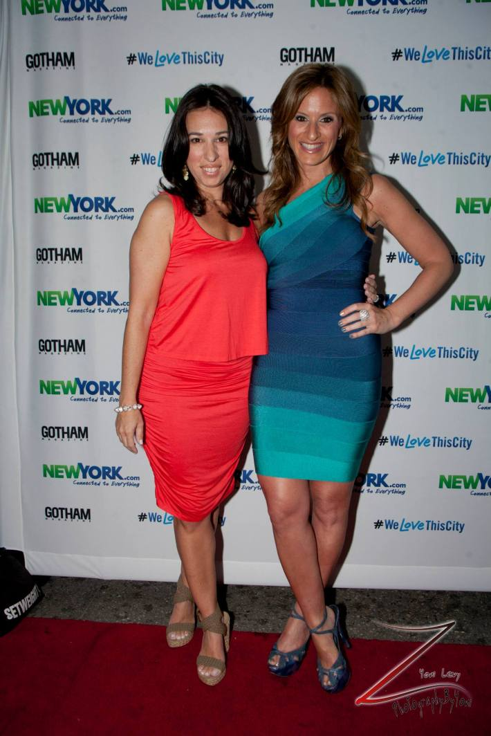Denise Albert and Melissa Musen Gerstein attend the NewYork.com Launch Party at Arena (Photo by Yoni Levy)