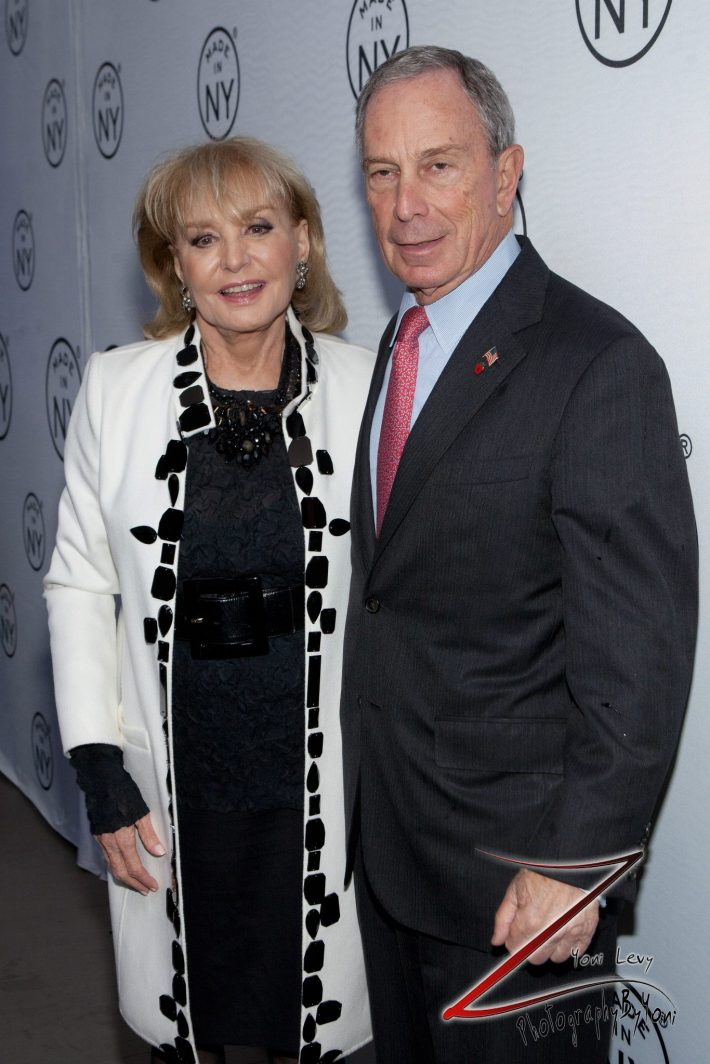 Barbara Walters and Mayor Michael Bloomberg attend the 8th Annual 'Made In NY Awards' at Gracie Mansion  (Photo by Yoni Levy)
