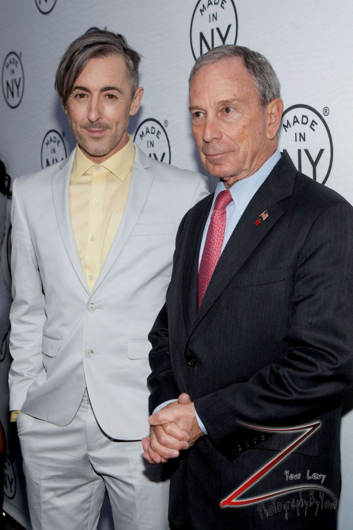 Alan Cumming And Mayor Michael Bloomberg attend the 8th Annual 'Made In NY Awards' at Gracie Mansion  (Photo by Yoni Levy)