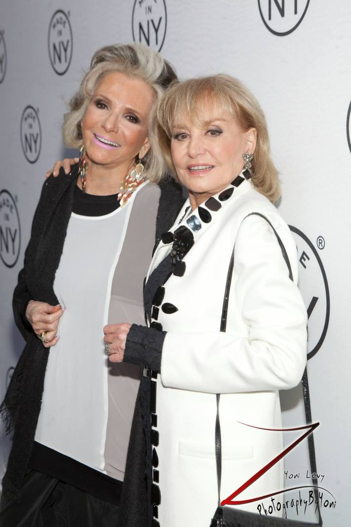 Sheila Nevins and Barbara Walters attend the 8th Annual 'Made In NY Awards' at Gracie Mansion  (Photo by Yoni Levy)