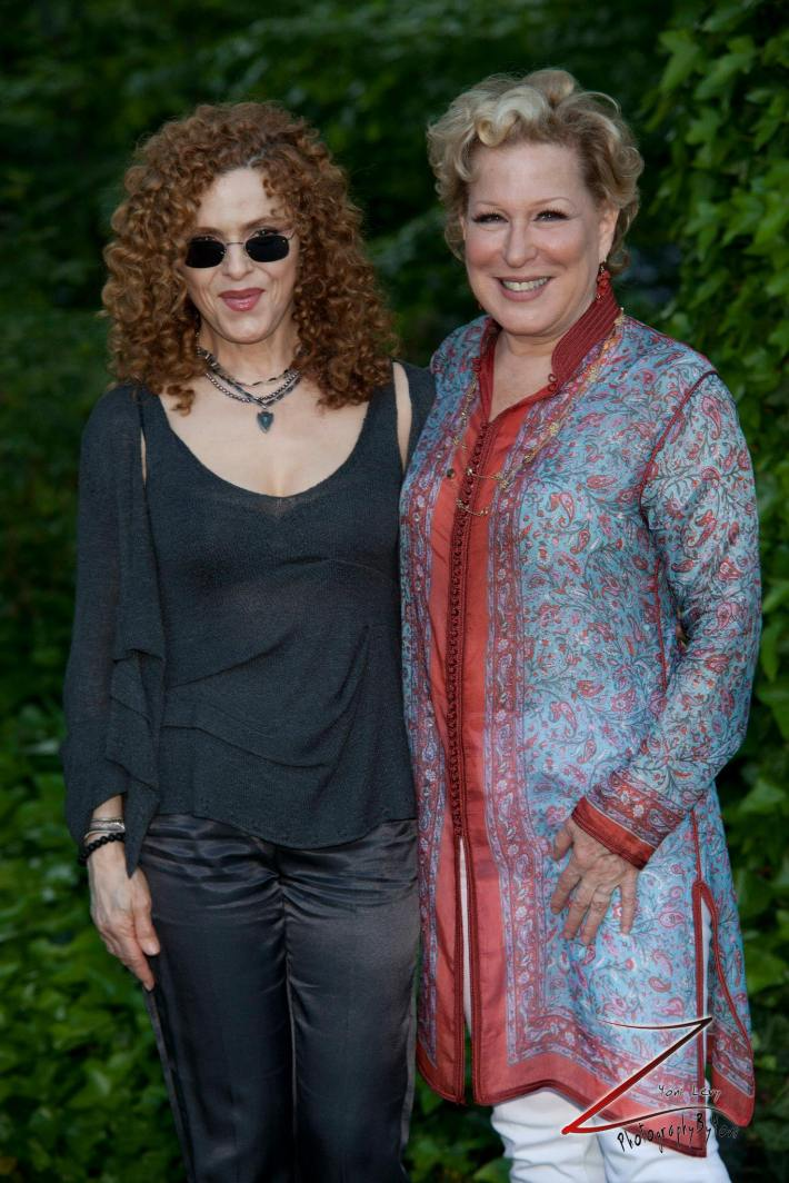 Bernadette Peters and Bette Midler attend  the 12th Annual Bette Midler's New York Restoration Project Spring Picnic  (Photo by Yoni Levy)