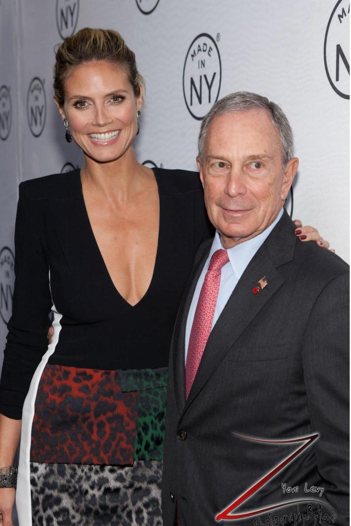 Heidi Klum And Mayor Michael Bloomberg attend the 8th Annual 'Made In NY Awards' at Gracie Mansion  (Photo by Yoni Levy)
