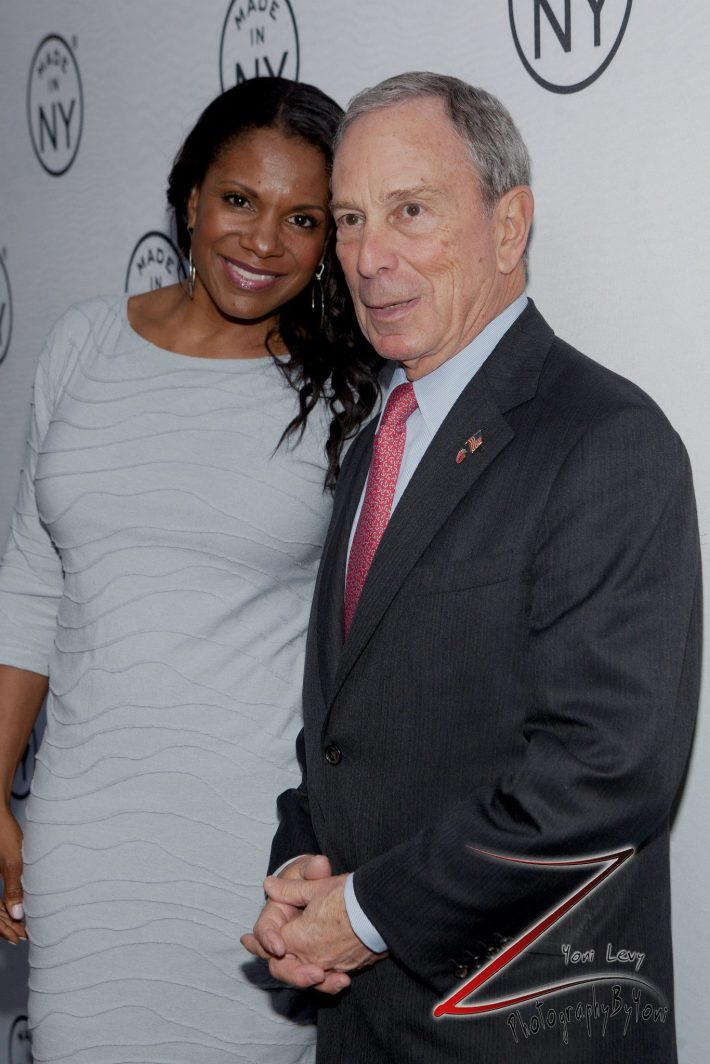 Actress Audra McDonald and Mayor Michael Bloomberg at the 8th Annual 'Made In NY Awards'  (Photo by Yoni Levy)