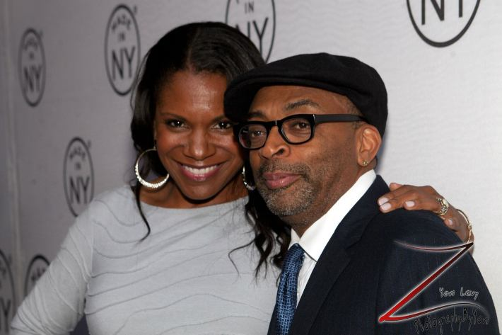 Actress Audra McDonald and Spike Lee at the 8th Annual 'Made In NY Awards' at Gracie Mansion  (Photo by Yoni Levy)