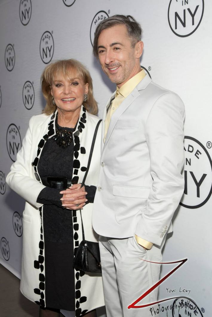 Barbara Walters and Alan Cumming attend the 8th Annual 'Made In NY Awards' at Gracie Mansion  (Photo by Yoni Levy)