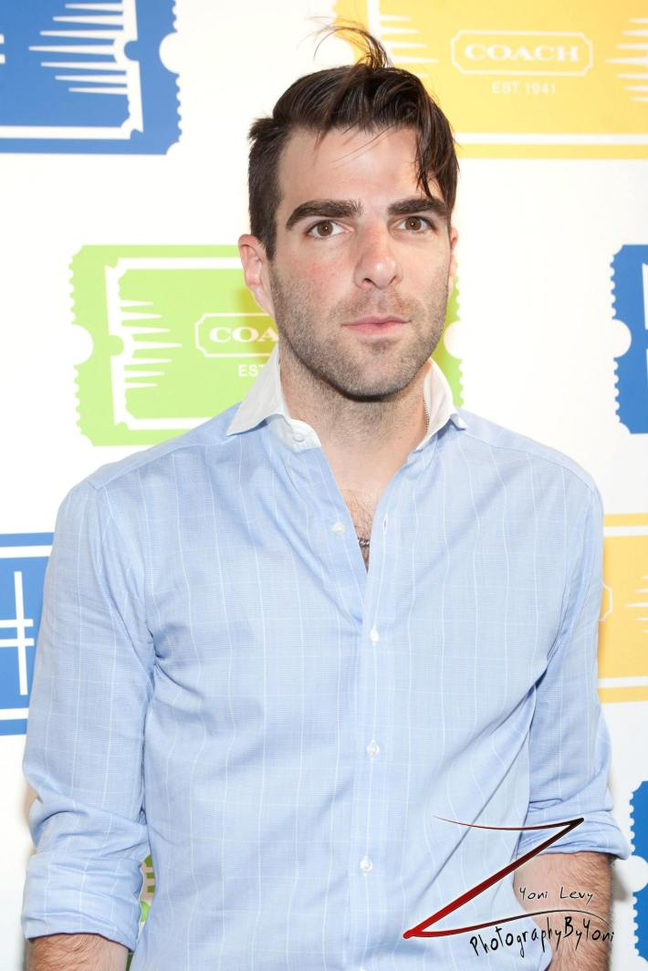 Actor Zachary Quinto  attends COACH's 3rd Annual Summer Party (Photo by Yoni Levy)
