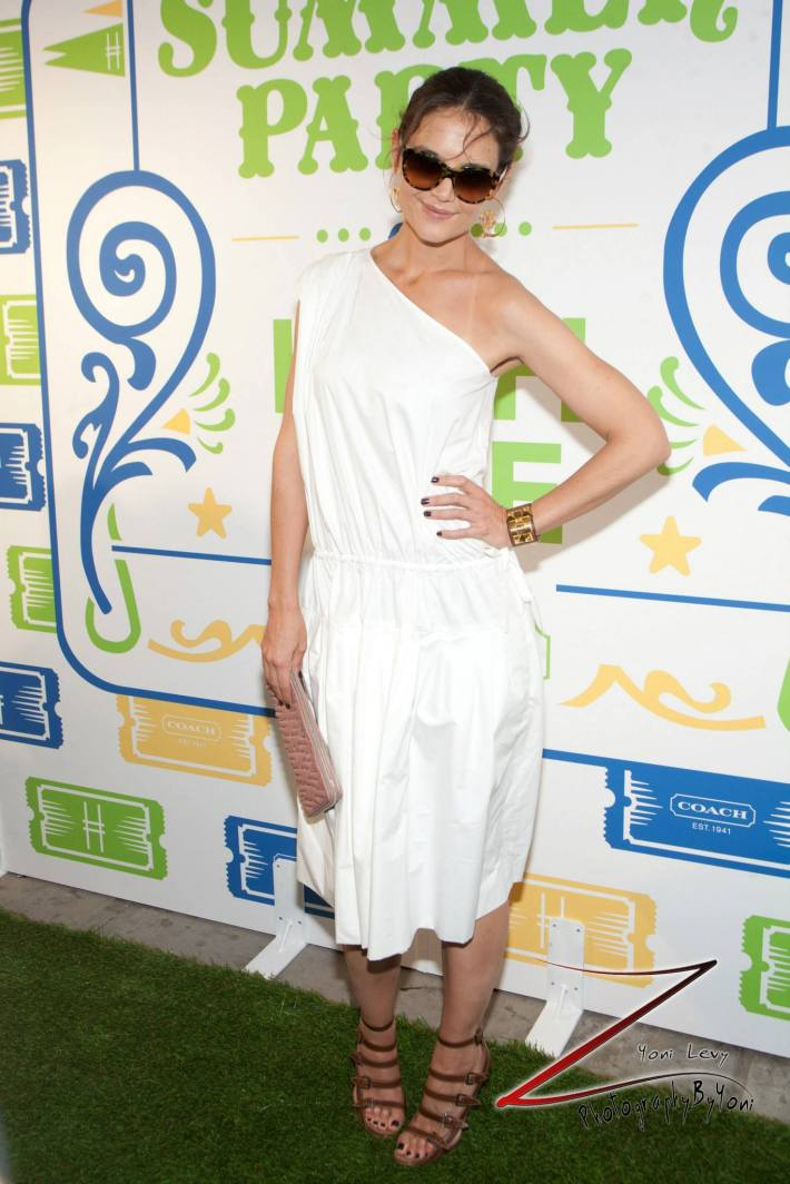 Actress Katie Holmes  attends COACH's 3rd Annual Summer Party (Photo by Yoni Levy)