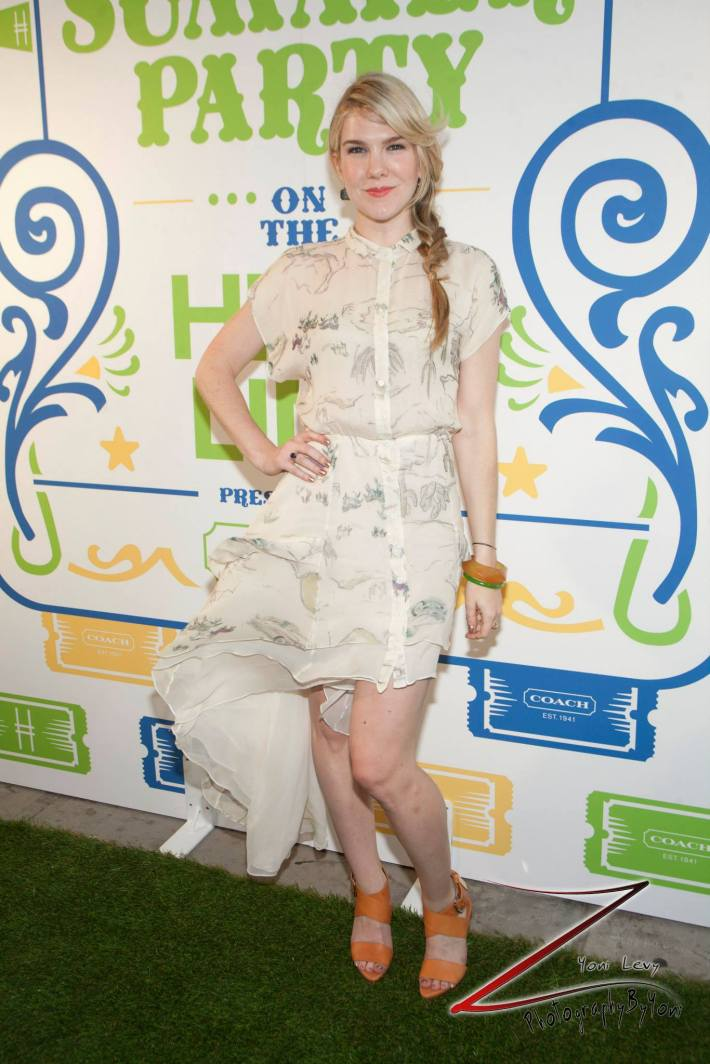 Actress Lily Rabe   attends COACH's 3rd Annual Summer Party (Photo by Yoni Levy)
