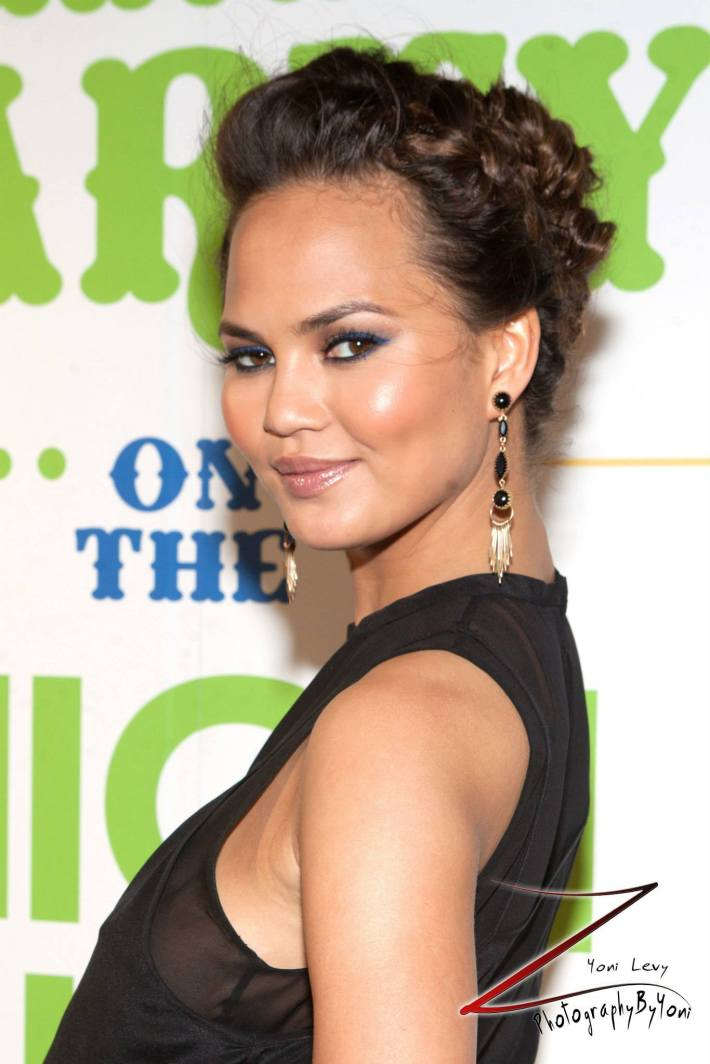 Model Chrissy Teigen attends COACH's 3rd Annual Summer Party (Photo by Yoni Levy)