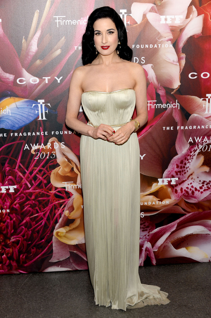 Dita Von Teese attends the 2013 Fragrance Foundation Awards