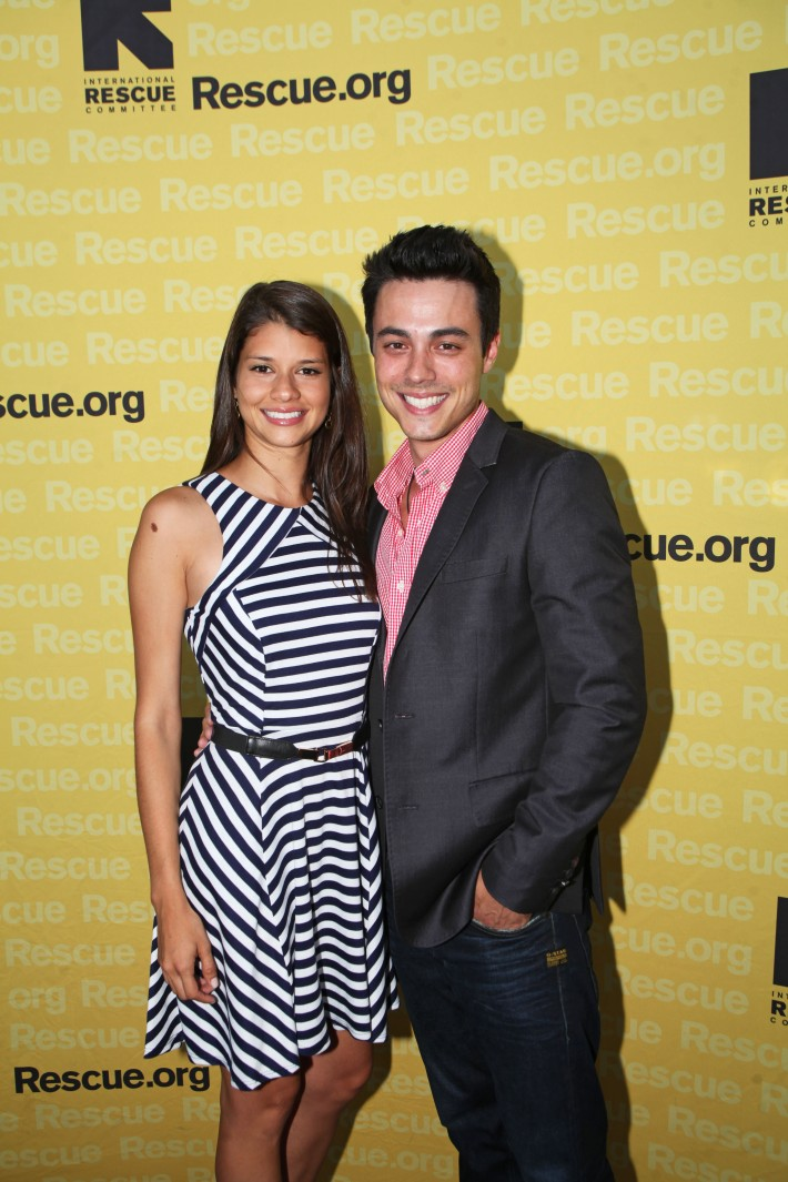 Rob Gorrie and Sabrina Mesa attend the International Rescue Committee's Third Annual GenR Summer Party (Photo by Yoni Levy)