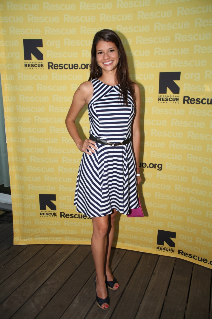 Sabrina Mesas attend the International Rescue Committee's Third Annual GenR Summer Party (Photo by Yoni Levy)