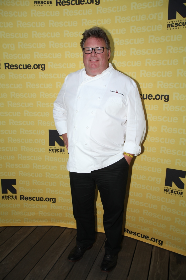 Chef David Burke at the International Rescue Committee's Third Annual GenR Summer Party (Photo by Yoni Levy)