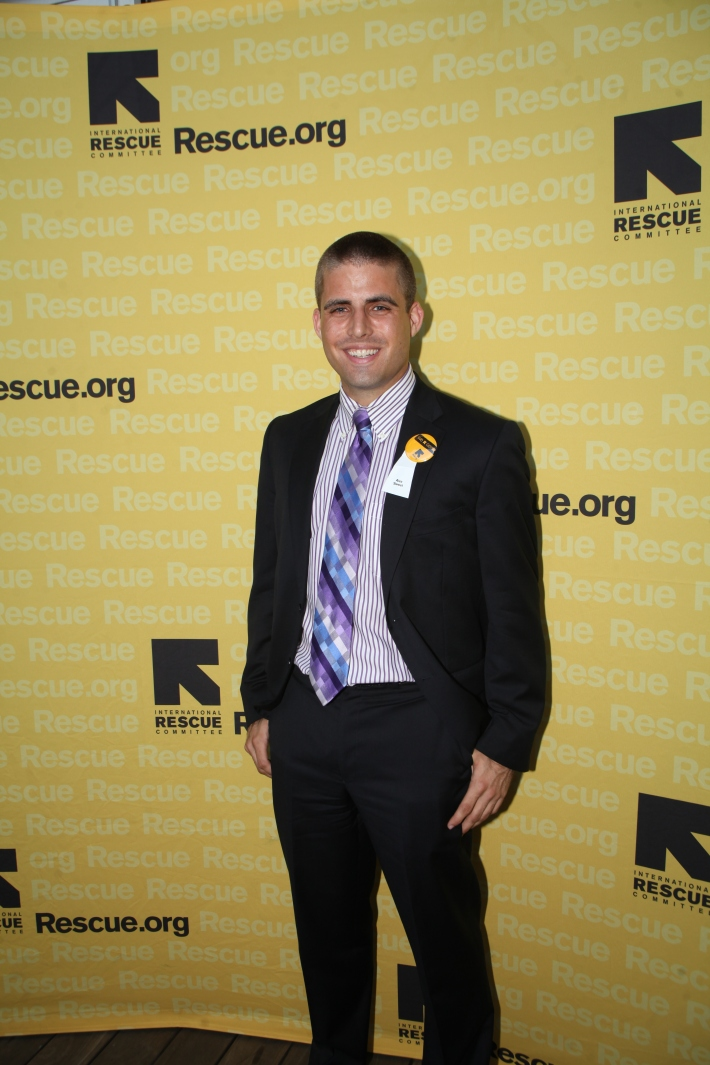 Alex Sweet attends the International Rescue Committee's Third Annual GenR Summer Party (Photo by Yoni Levy)