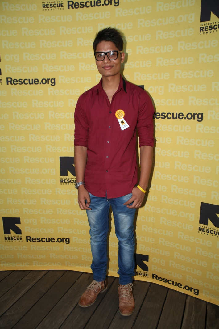 Parbat Chapagai attends the International Rescue Committee's Third Annual GenR Summer Party (Photo by Yoni Levy)