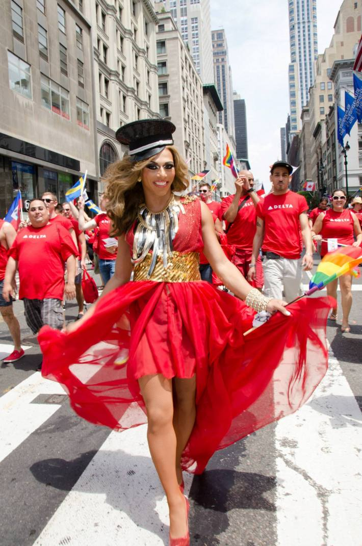 Shangela Laquifa at NYC Pride 2013 - The March (Photo by Yoni Levy)