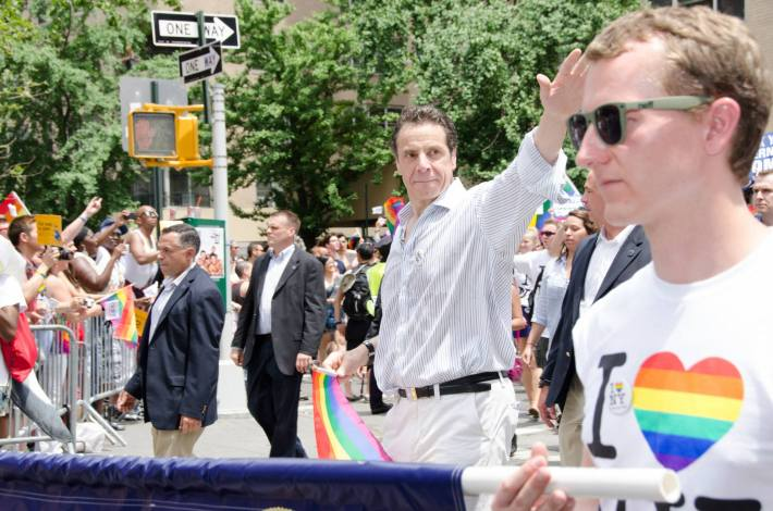 Andrew Cuomo at NYC Pride 2013 - The March (Photo by Yoni Levy)