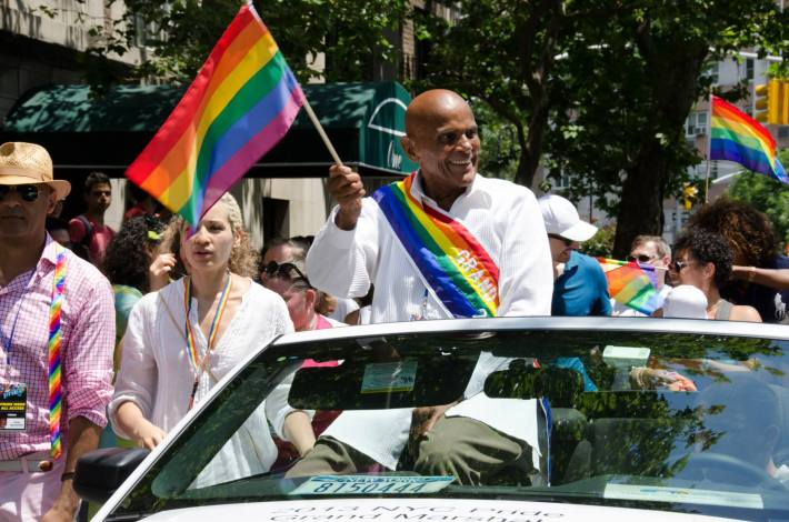 Harry Belafonte at NYC Pride 2013 - The March (Photo by Yoni Levy)