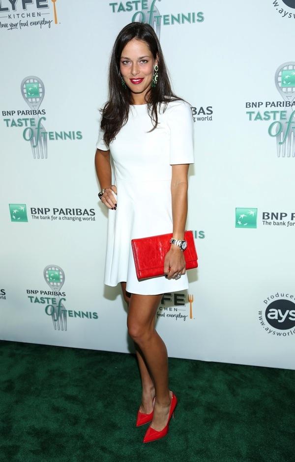 Ana Ivanovic attends The 14th Annual BNP Paribas Taste Of Tennis