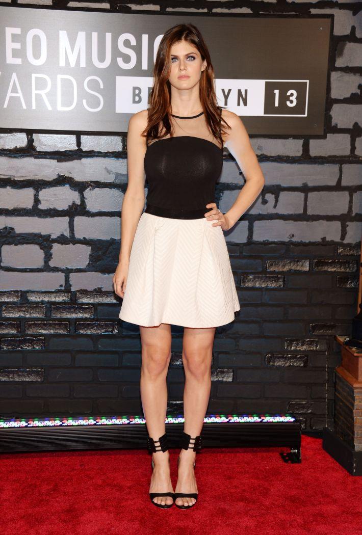 Alexandra Daddario at the 2013 MTV Video Music Awards