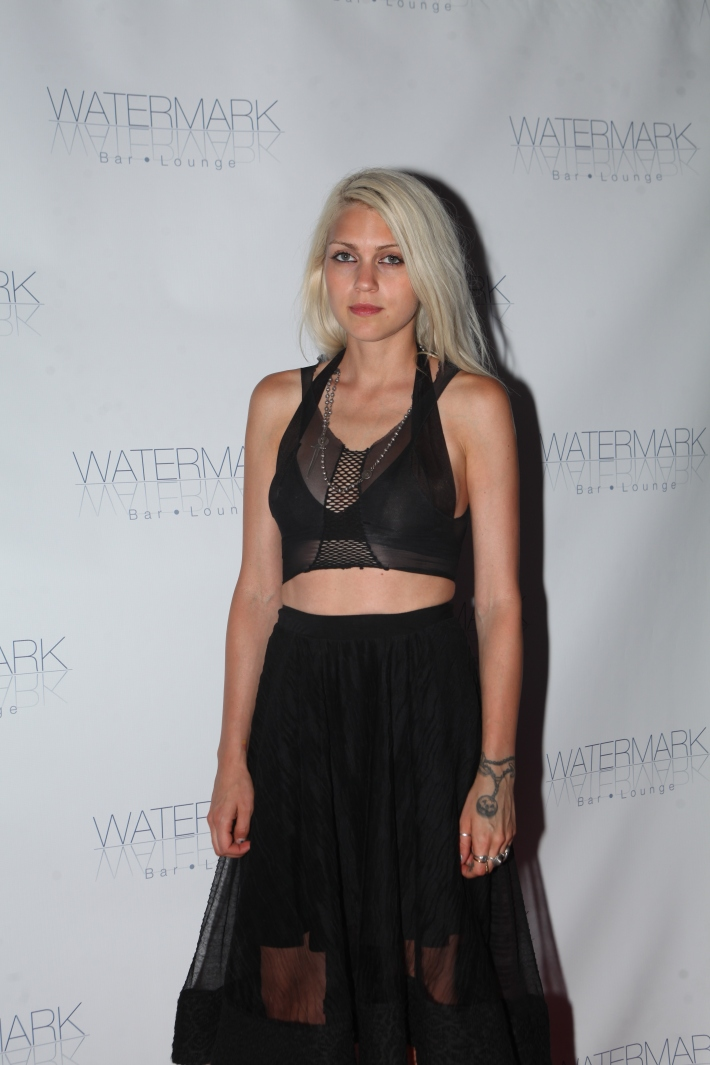 Fashion designer Katie Gallagher  attends the Grand Opening of Watermark Bar (Photo by Yoni Levy)