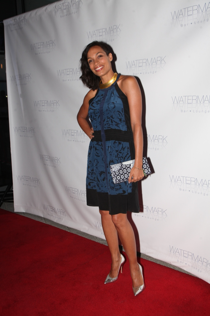 Rosario Dawson attends the Grand Opening of Watermark Bar (Photo by Yoni Levy)