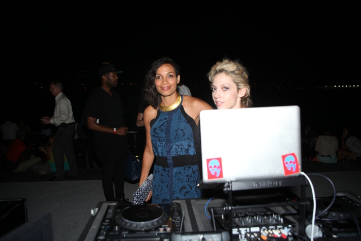 Rosario Dawson, Cory Kennedy attend the Grand Opening of Watermark Bar (Photo by Yoni Levy)